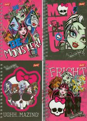 Notes spiralny A6 Monster High,